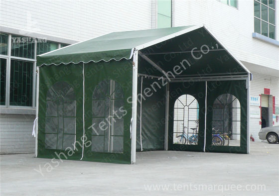 Outdoor Green Aluminum Frame Fabric Tent Structures , Fabric Shelter Systems