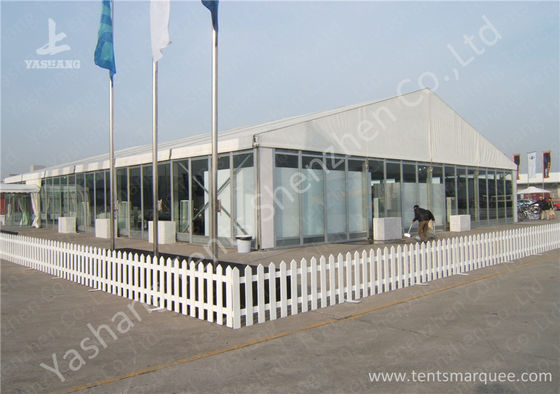 Transparent Glass Wall Outdoor Aluminum Profile Car Exhibition Tent against Ultraviolet