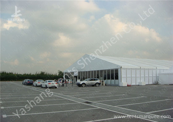 China Hard ABS and Transparent Glass Wall Outdoor Aluminum Profile Car Exhibition Tent factory