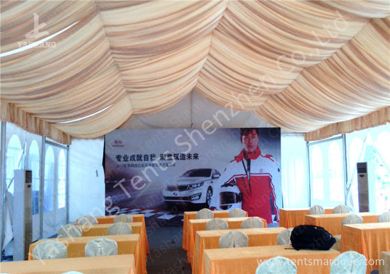 China Roof Lining PVC Fabric Cover Outdoor Aluminum Profile Car Exhibition Tent factory