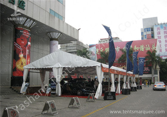China Outdoor UV Resistant 850gsm White PVC Fabric Cover Car Exhibition Tent factory