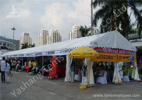 China 6x42M Outdoor UV Resistant Hard Pressed Extruded Aluminum Car Exhibition Tent factory