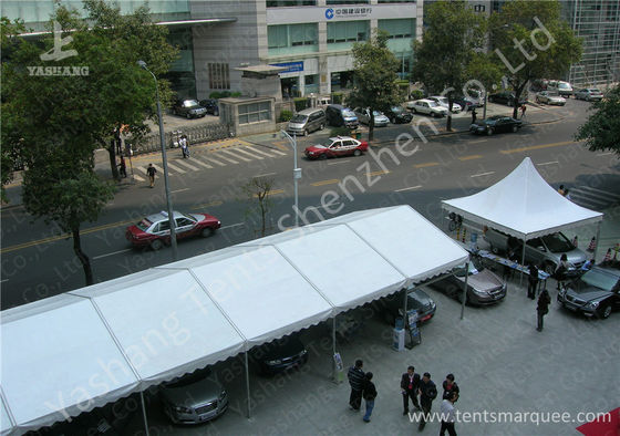 China Outdoor PVC Fabric Cover Pressed Extruded Aluminum Frame Car Exhibition Tent factory