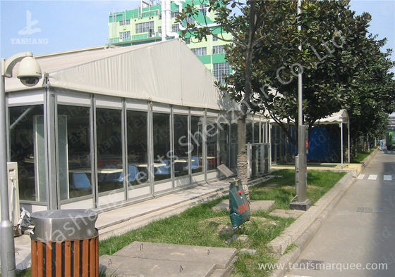 Waterproof Transparent Glass Walls Clear Span Tent Marquee UV Resistant