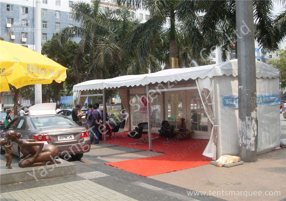 China Aluminum Profile UV Resistant Car Outdoor Exhibition Tents White PVC Fabric Cover factory