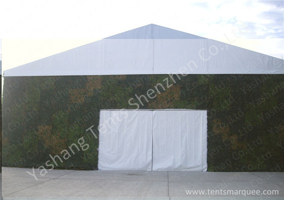 Custom Aluminum Alloy Frame PVC Fabric Tent Structures , Military Tent