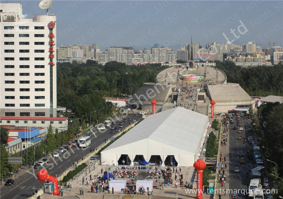 China 30X150M large exhibition tent , Square car show tent 850gsm PVC Fabric Cover factory