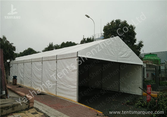 Wind Resistant Aluminium Frame Tents Waterproof White PVC Textile Cover
