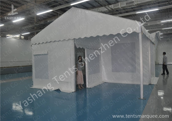 Soft Screen Windows Hard Aluminum Frame Tent Structures , Fabric Hotel Applied