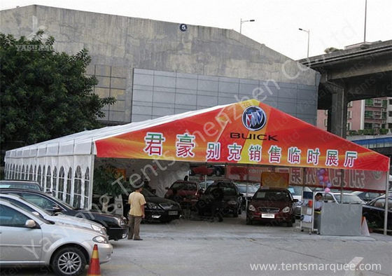 China Sunblock Car Outdoor Exhibition Tents with Water Resistant PVC Fabric Cover factory