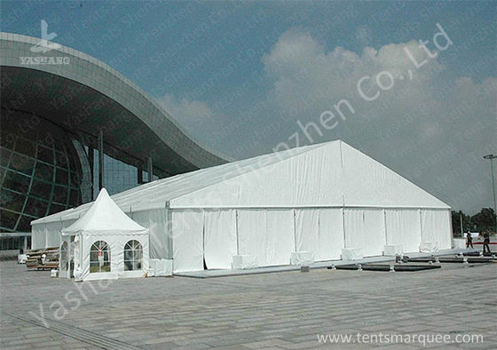 High Pressed Frame Clear Span Steel Buildings UV Repellent Double Coated PVC Fabric Cover