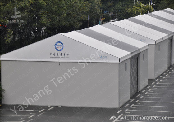 Aluminum Alloy Frame Outdoor Exhibition Tents with Hard Wall and Electric Shutter Door