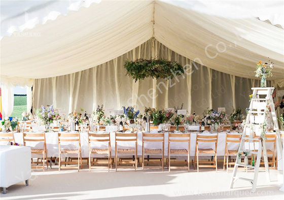 China Various Linings Fabric Cover Large Outdoor Tent Canopy For Wedding Reception factory