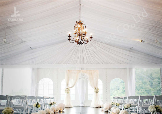 White Water Repellent PVC Fabric Cover Aluminum Frame Wedding Decoration Tent