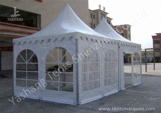 Hard Aluminum Framed Wind Resistance High Peak Tents Soft Pvc Fabric Cover