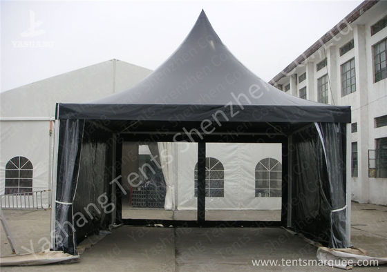 White High Peak Tents , Aluminium Pagoda Tent Custom Made Color And Wall Material