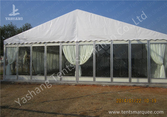 Transparent Glass Wall Outdoor Luxury Wedding Tents With Full Beautiful Decorations