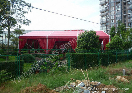12M Red Fabric Cover Wedding Tent Decoration , Wedding Canopy Tent Aluminum Alloy Frame