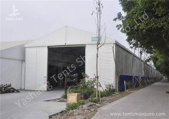 8X60M Waterproof Aluminum outside storage tent Structure hard rolling shutter door