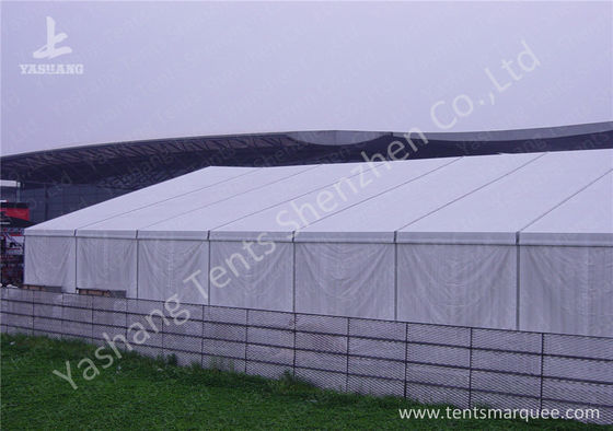 Anodized Aluminum Alloy Frame Clear Span Structures with UV Repellent Fabric Cover