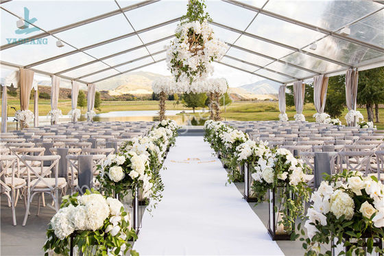 Luxury Wedding Event Structure Outdoor Transparent Roof Fabric Tent Canopy