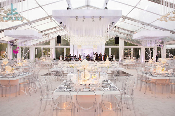 Transparent Roof Fabric Tent Luxury Outdoor Wedding Party Marquee Aluminum Structure