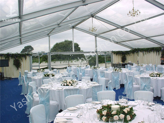 Outdoor Party Tent Transparent PVC Fabric Cover Aluminum Framed Structure