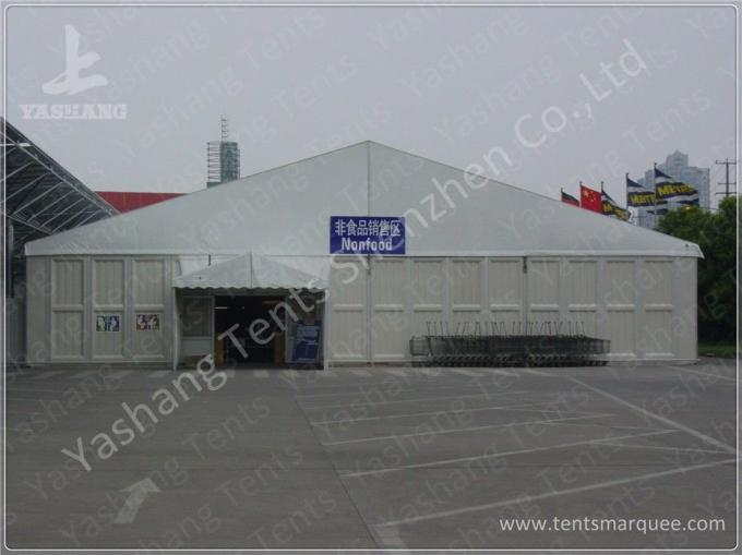 Corrugated Sheet Wall Marquee Tent , Semi-permanent Car Parking Tent Marquee