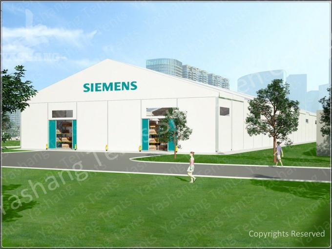 Industrial Canopy Shelter Temporary Workshop Tent With Corrugated Sheet Wall