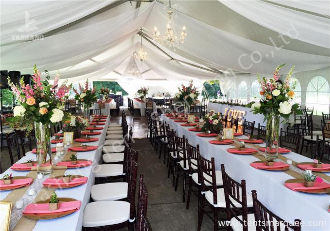 Simple Wave Roof Lining Deco Outside Aluminum Profile Luxury Wedding Tents