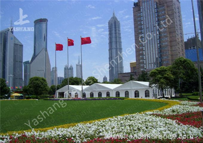 White PVC Textile Cover Weather Resistant High Peak Tents , Outdoor Gazebo Tent UV Resistance
