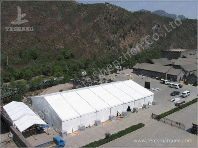 Yellow Top Cover Fabric High Peak Tents High Performance 80 KM / H Wind Load