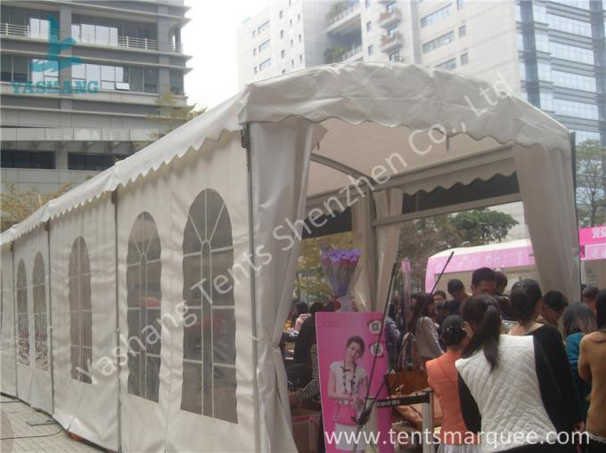 Arc Shape Outdoor Commercial Event Tent Transparent PVC Windows UV Resistant