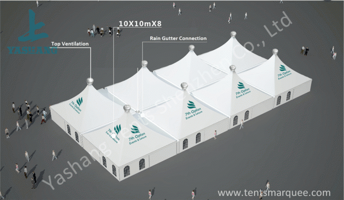 10 x 10 German Style High Peak Tents , wedding decoration tent Aluminum Alloy Profile