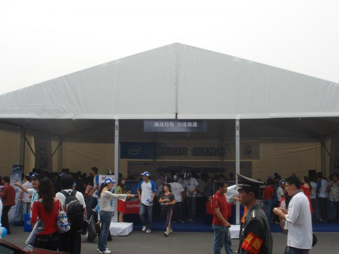 15x25M Uv Resistant Car Exhibition Promotional Canopy Tent 850gsm Pvc Fabric Cover