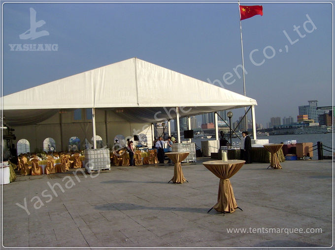 High Performance Outdoor Warehouse Tents White PVC Tarpaulin Storage Marquees Hire