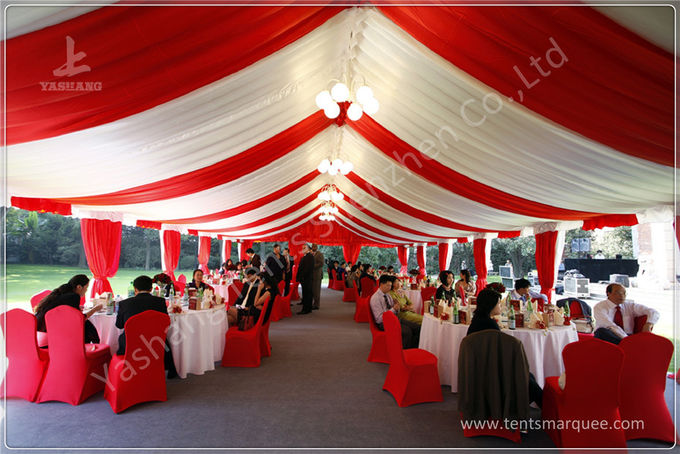 Customised Orange Warehouse Temporary Storage Shelters Huge Tent Rentals Eco Friendly