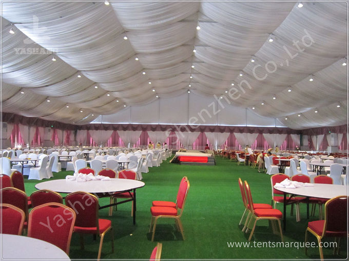 Large Width High Peak Tents , Aluminum Frame Outdoor Party Tents 10x10m
