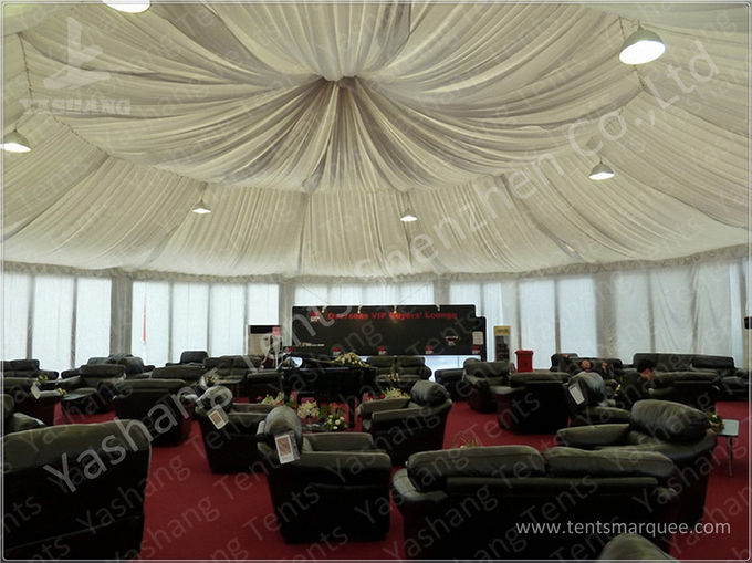 Luxury Decoration Gazebo Canopy Tents , Glass Wall Outside Gazebos Canopies