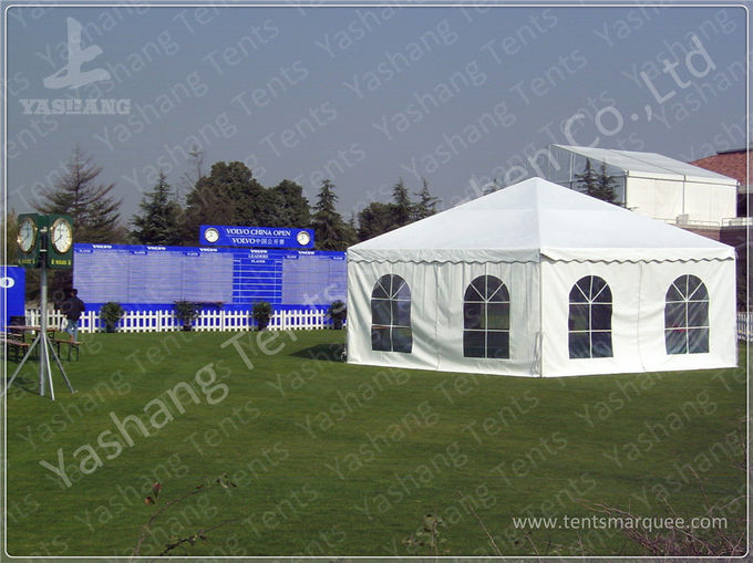 Hexagonal White PVC Fabric Gazebo Canopy Tents Aluminum Profile