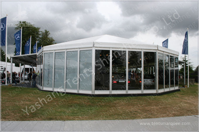 Polygonal Conic Roof white Gazebo Tent Canopy Customized ISO CE Certification