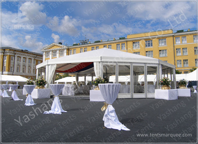 Professional 300 Seaters White Clear Span Tents Flame Retardant 15X30M for Opening Ceremony