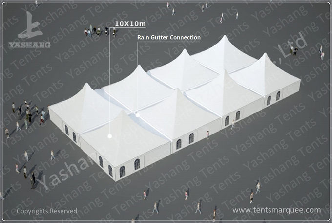 Emergency Industrial Marquee Outdoor Warehouse Tents Complex With Fabric Rain Gutter