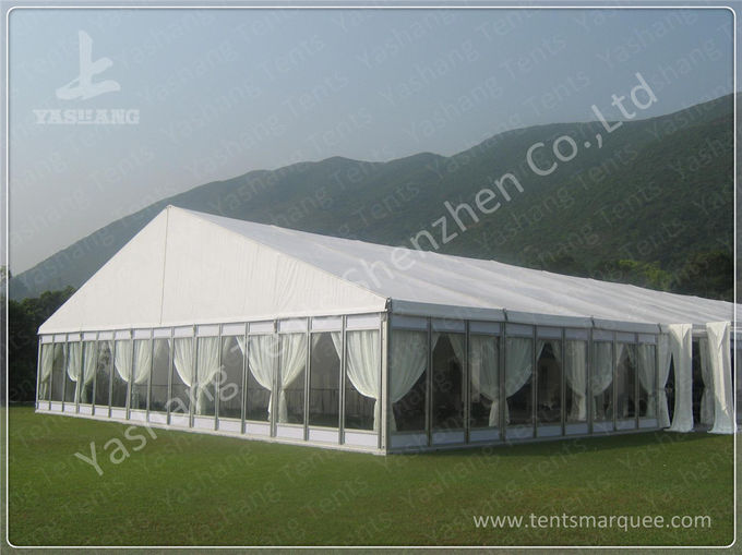 100 Seater Temporary Outdoor Garden Party Canopy Tent Open Gable Sunshade Construction