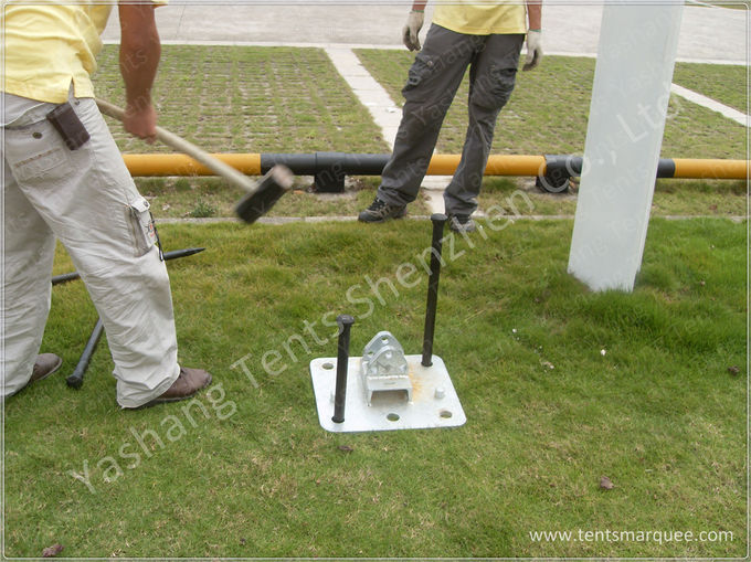Commercial Event Tent Accessories , Tent Anchoring Stakes CE TUV Certification