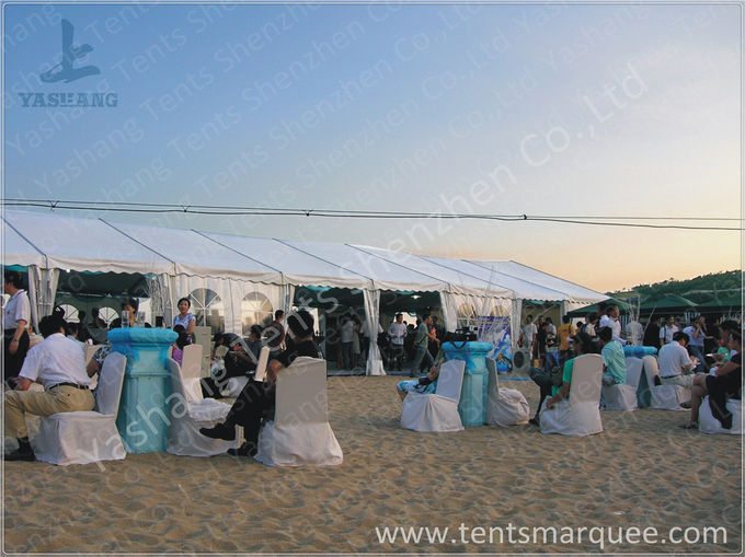 8x27M Outside custom event tents Aluminum Frame Built on the Coast