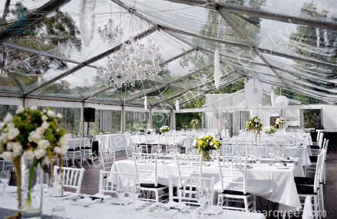 15X20 200 Seater Luxury Wedding Tents A Frame Shape 100 Km/H Wind Resistance
