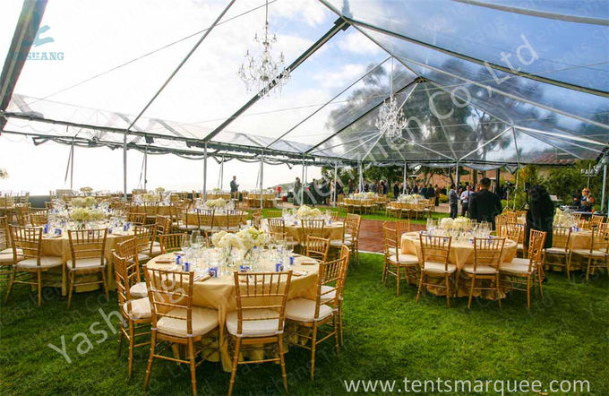 800 Seater Fabric Gala Dinner Outdoor Party Tents Clear Roof Marquee 25X50 M