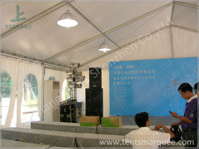 Activities Held in the White Fabric Roof Event Tent Preventing from Strong Sun