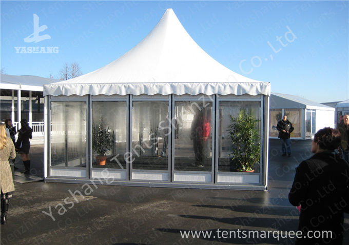 Rustless Waterproof Fabric Sunshade Outdoor Event Tent , Frame Big Event Tents